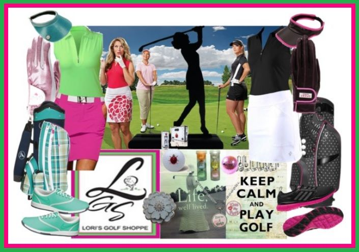 In golf fashion, you can go for colorful or plain golf look with our JoFit apparel and match it with Nike or Adidas Golf Shoes. Avoid being boring, accessorize with Sassy Caddy or Ogio Golf Bags and Glove It accessories! #golf #ootd #polyvore #lorisgolfshoppe