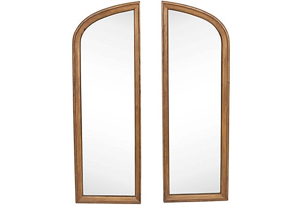 Arched Mirrors, Pair
