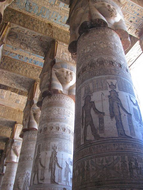 Temple of Hathor, Dendera, Egypt 2011 by andrei deev, via Flickr