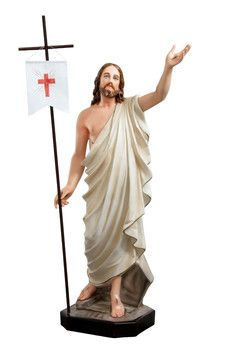 Gesù risorto cm. 110 altezza cm. 110 in resina vuota disponibile anche in vetroresina dipinto con colori acrilici e finiture ad olio disponibile anche con occhi di vetro  http://www.ovunqueproteggimi.com/collezione-statue/ges%C3%B9/risorto/