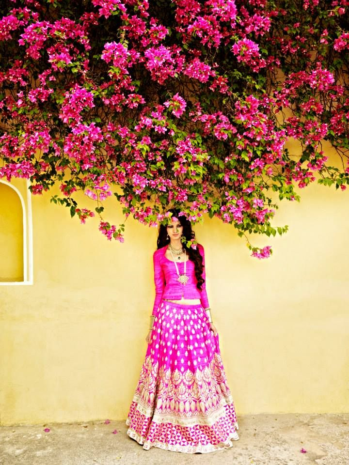 Pink Lengha by: Anita Dongre