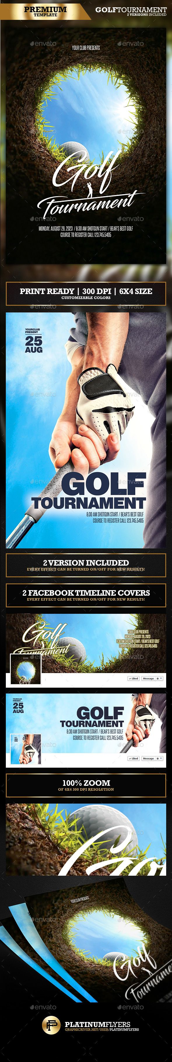 Golf Flyer / Golf Tournament (2 in 1) - Print Templates