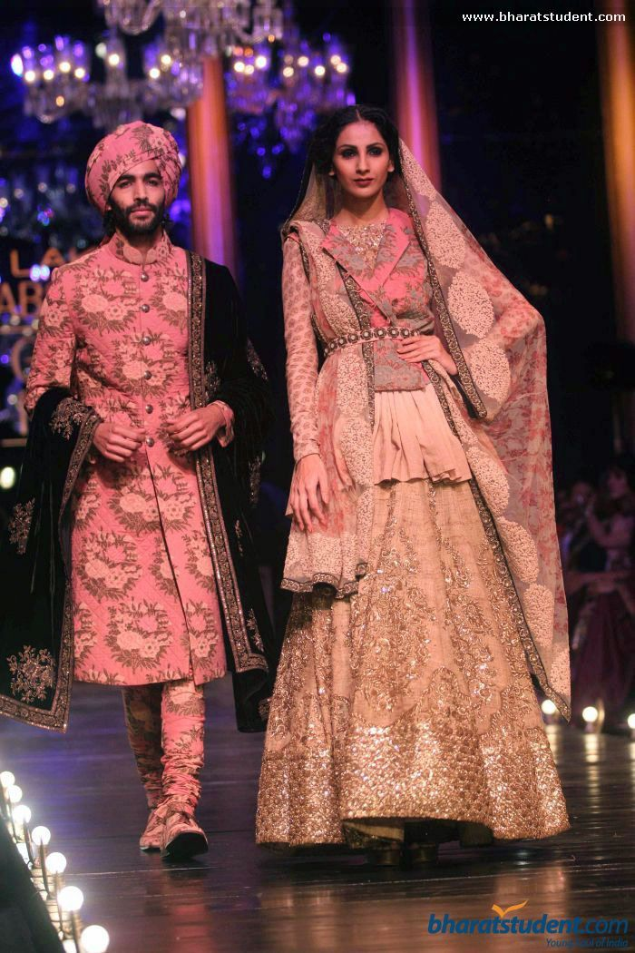 Sherwani and Lengha by Sabyasachi at Lakme Fashion Week ... Sabyasachi Lakme Fashion Week Winter Festive 2013