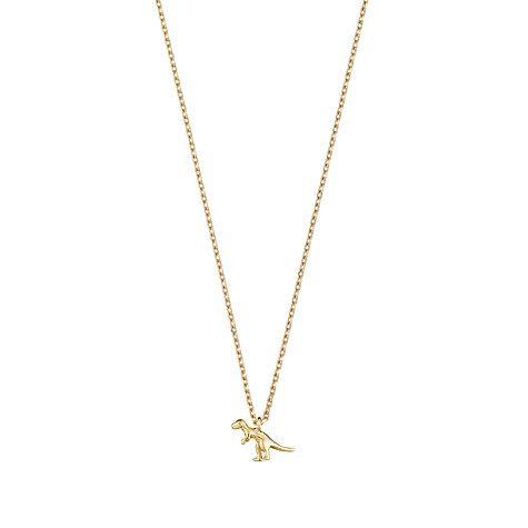 Buy Estella Bartlett Dinosaur Pendant Necklace, Gold Online at johnlewis.com