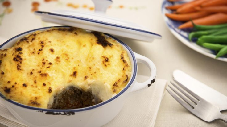 Rachel Khoos shepherdless pie is a vegetarian version of the British classic, made with puy lentils and vegetables topped with a polenta topping