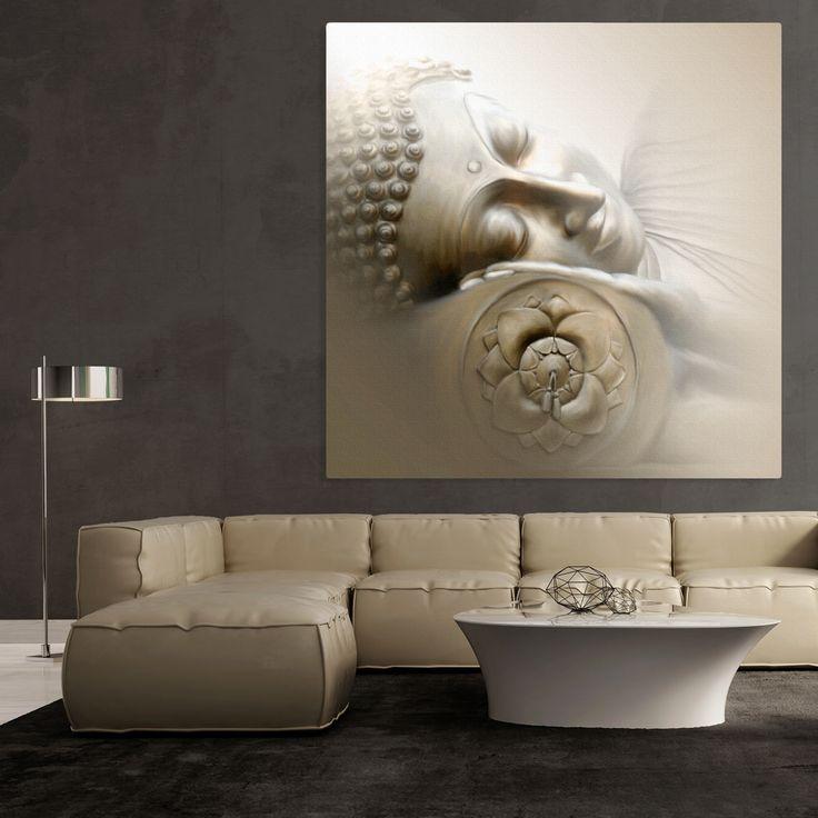 Das Wort Buddha bedeutet Erwachter und ist der Ehrenname des Begründers des Buddhismus: Siddharta Gautama. Dessen Lehre (Dharma) erfreut sich unter anderem wegen seiner Einfachheit auch in der westlichen Welt an großer Beliebtheit.  Schlafender Buddha von Christine Ganz - Bildnr. 231795
