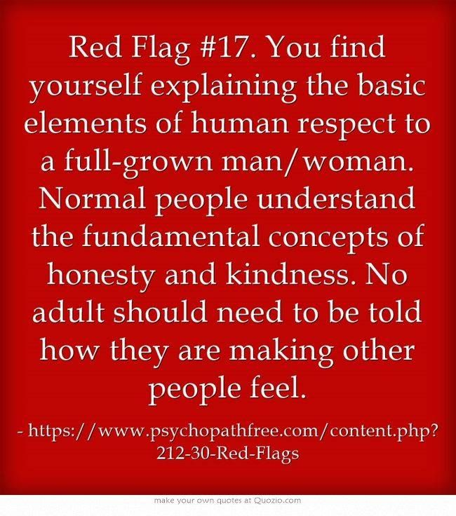 narcissist dating red flags There are five dating red flags of narcissists which we often mistake for intimacy.