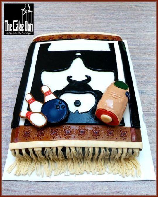 "THE"" BIG LEBOWSKI"" grooms cake"