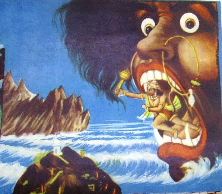 flying on sea hanuman కోసం చిత్ర ఫలితం