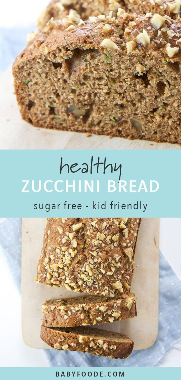 This Healthy Zucchini Bread Is Made With Whole Wheat Flour Agave Nectar Applesauce Olive O In 2020 Zucchini Rezepte Brot Gesundes Zucchinibrot Gesundes Brot Rezepte