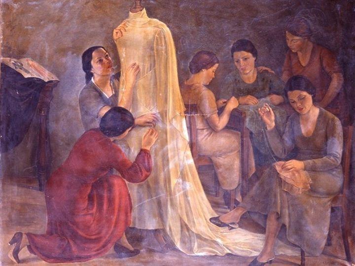 Carlo Socrate - Vestizione della Sposa, 1934.