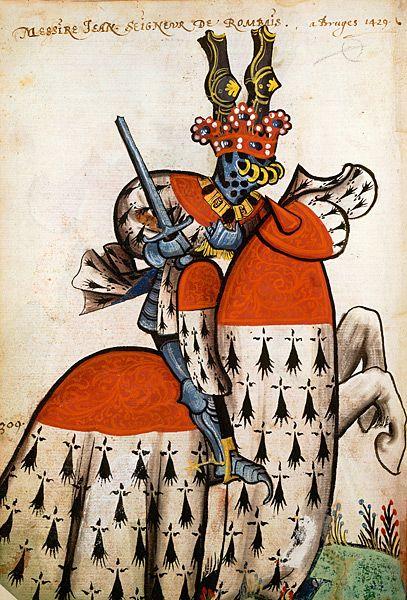 Jean de Roubaix, Grand Armorial équestre de la Toison d'Or, Flandres, 1430-1461.