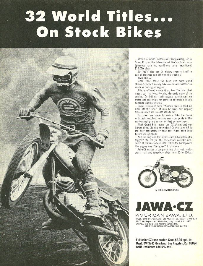 Jawa - CZ the old times when those bikes from Czechia ruled the motocross world #motocycles #Czechia