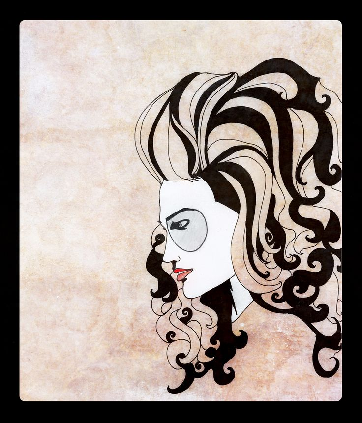 Quiff Hair fashion illustration by Rebecca Elliston aka BeckiBoos #Fashion art #Illustration