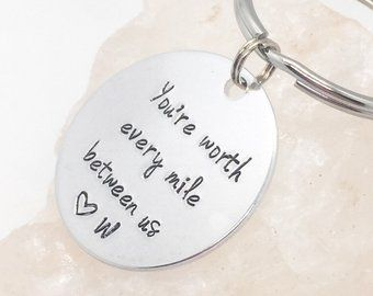 Long Distance Keychain, Deployment Gift for Boyfriend, Deployment Keychain, Long Distance Relationship Gift, Anniversary Long Distance – –