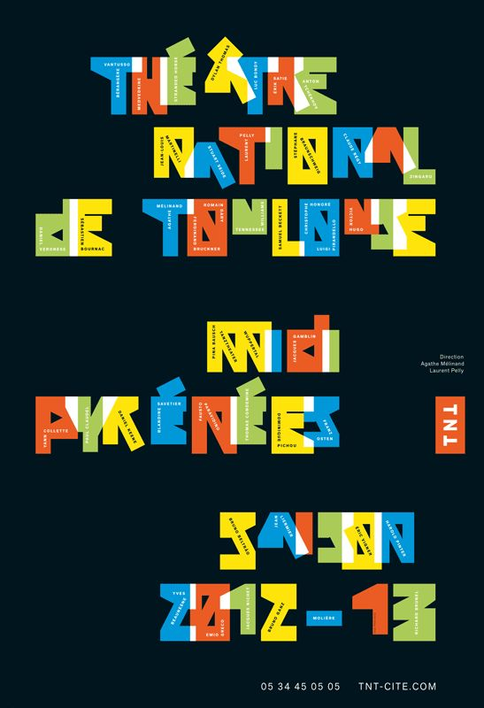Poster with custom type by Phillippe Apeloig repinned by Awake — http://designedbyawake.com