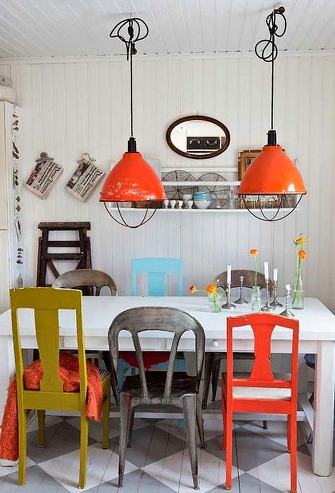 COLORFUL DINING CHAIRS – MODERN MIX UP