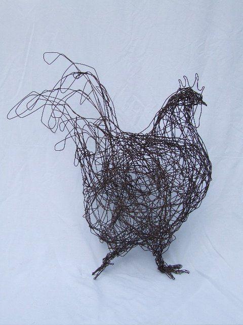 Portfolio emma stothard sculptor willow sculpture for Chicken wire sculptures uk