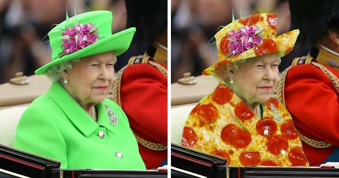 The Queen's 'Green Screen' Outfit Sparks A Hilarious Internet Reaction | Bored Panda