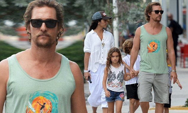 He just returned from a vow ceremony in Brazil where he dressed to the nines. But Matthew McConaughey was back to his old bohemian ways as he was spotted in Miami on Friday.