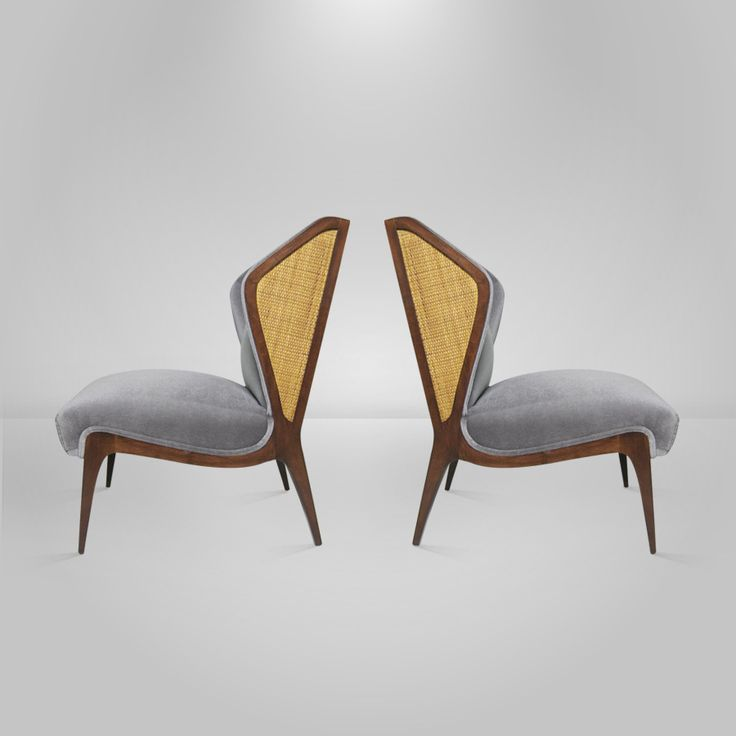 Pair of Italian Wingback Lounge Chairs in the Manner of Gio Ponti image 5