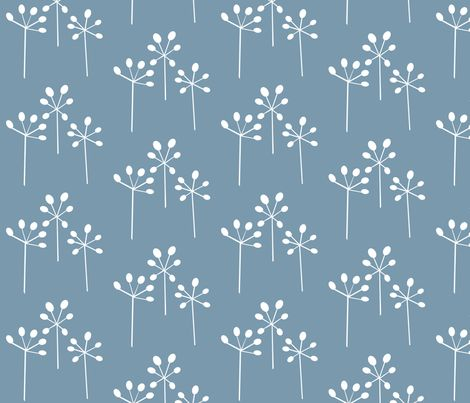 hemlock azure fabric by ex-m on Spoonflower - custom fabric