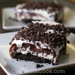 Chocolate Lasagna. Best dessert ever! Definite crowd-pleaser - nothing scary in here :)