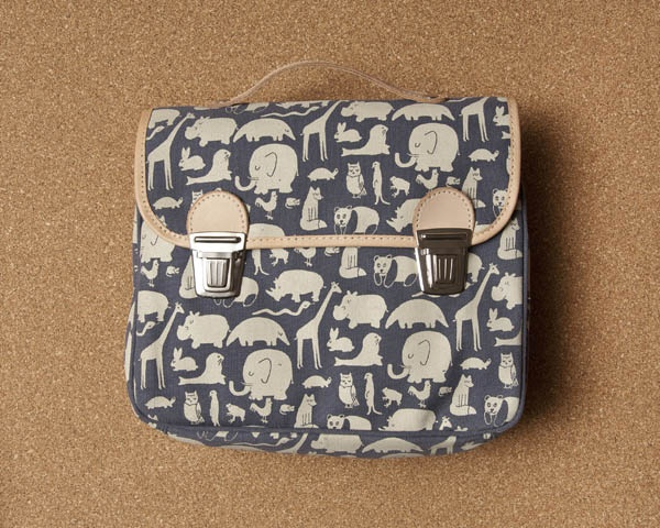 Printed canvas satchel Fanny & Alexander