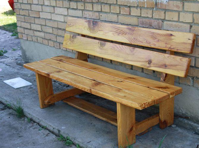Как сделать простую деревянную скамейку со спинкой своими руками