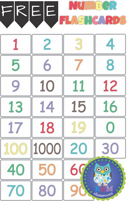 Free Number Flashcards