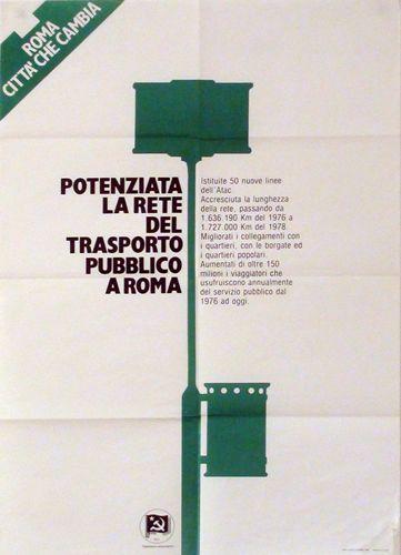 Roma città che cambia Potenziata la rete del trasporto pubblico a Roma  Progetto grafico di Daniele Turchi.