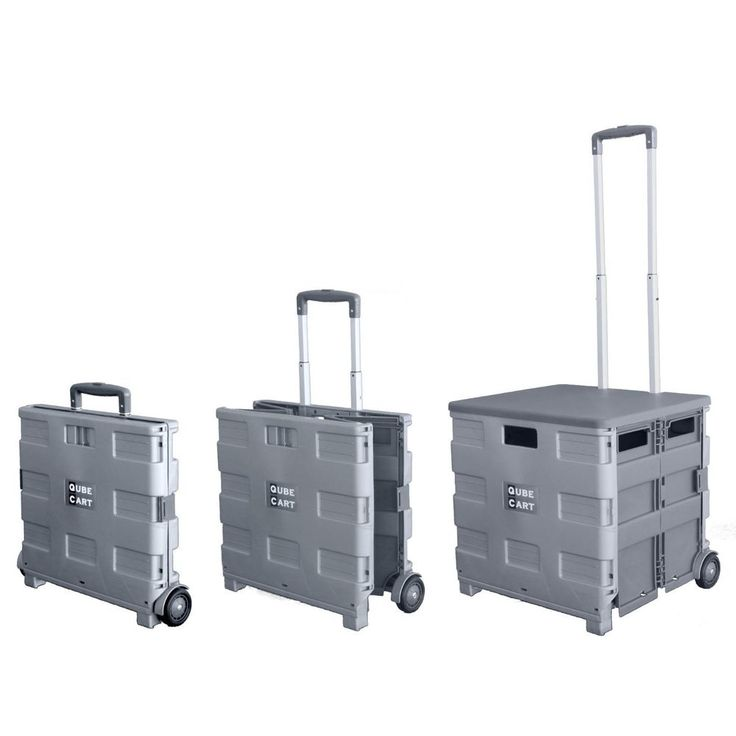 gray xl detachable lid teacher rolling cart collapsable new