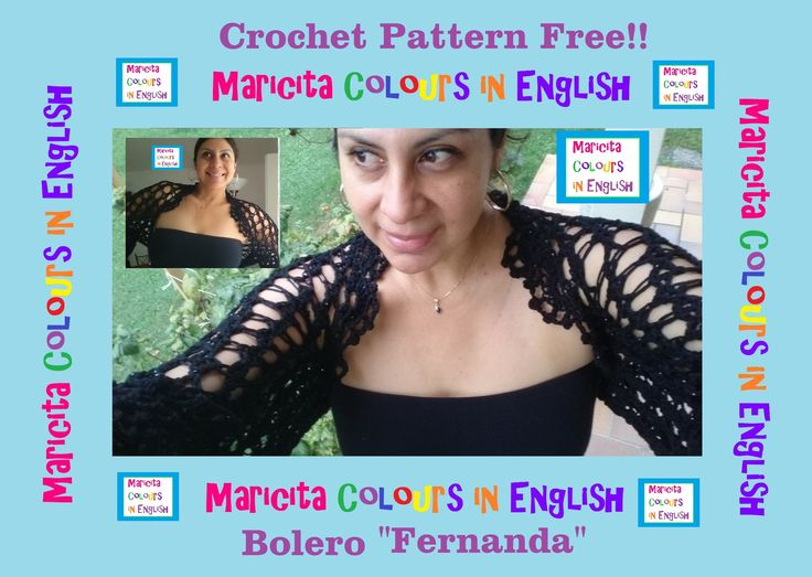 "Crochet in English Elegant Bolero ""Fernanda"" Part 1 by Maricita Colours"