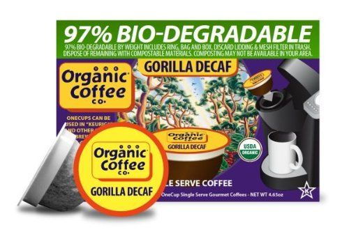 The Organic Coffee Company Decaf Gorilla Coffee, 12 OneCup Single Serve Cups - http://goodvibeorganics.com/the-organic-coffee-company-decaf-gorilla-coffee-12-onecup-single-serve-cups/
