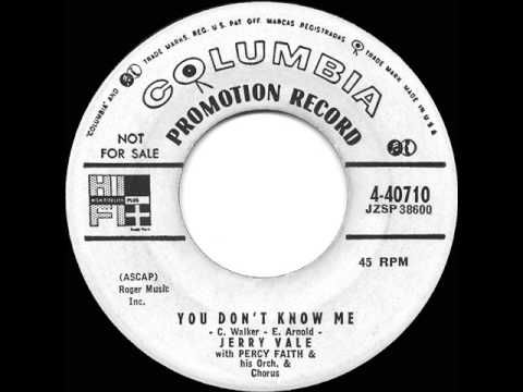▶ 1956 HITS ARCHIVE: You Don't Know Me - Jerry Vale - YouTube