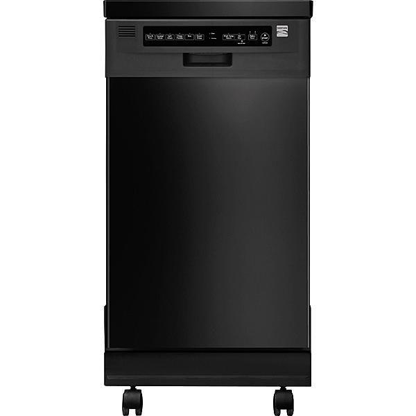 Kenmore 14659 18 Portable Dishwasher Black Portable Dishwasher Black Dishwasher Steel Tub