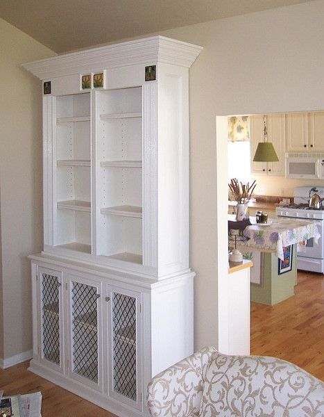 Painted Bookcases with Motawi tiles