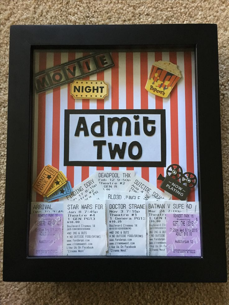 DIY Movie Ticket Shadow Box