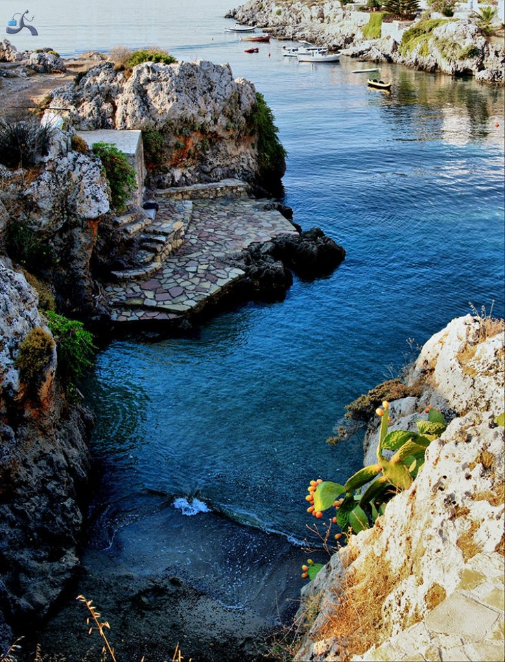 Kithira Island, Greece. This very small beach is called Aphrodite's Bathtub because the island belongs to the ancient goddess.