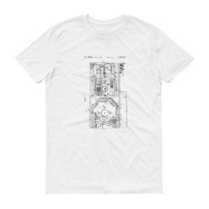 Hardinge Automatic Lathe Turret Patent Short sleeve t-shirt