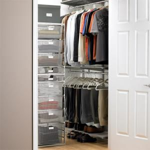 7 steps to choosing and installing the perfect elfa closet system for your wardrobe: Elfa Closets for Small Spaces