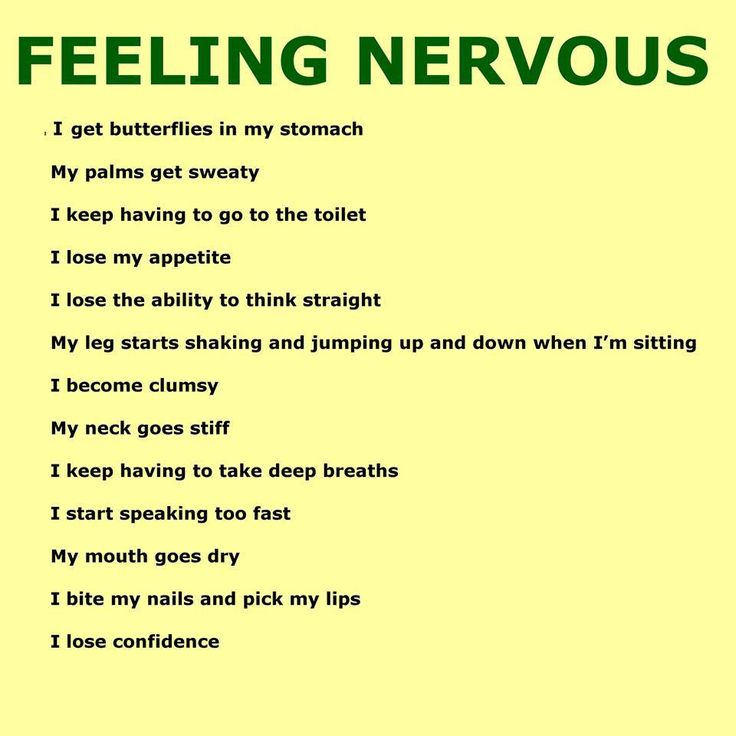 feeling nervous...something I should learn to overcome >.