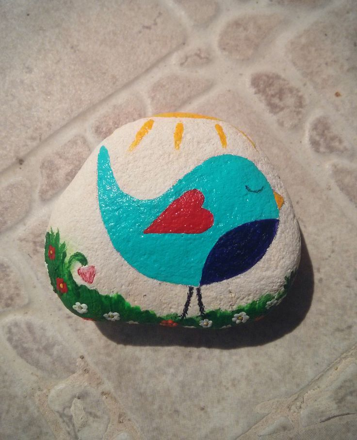 Lovely blue bird stone