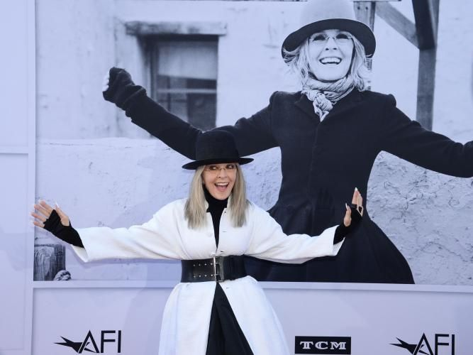 Actress Diane Keaton was honored by the American Film Institute with the Lifetime Achievement Award during a gala at… – @UPI Photo Gallery