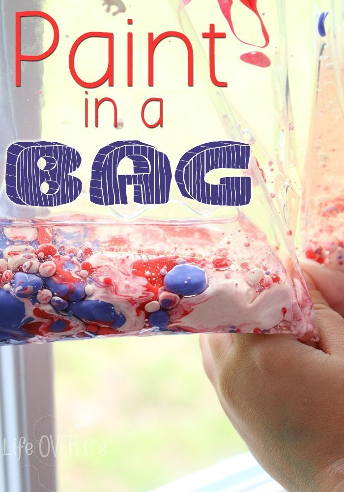 This mess-free paint in a bag is a great way to explore colors and even a fun science experiment!