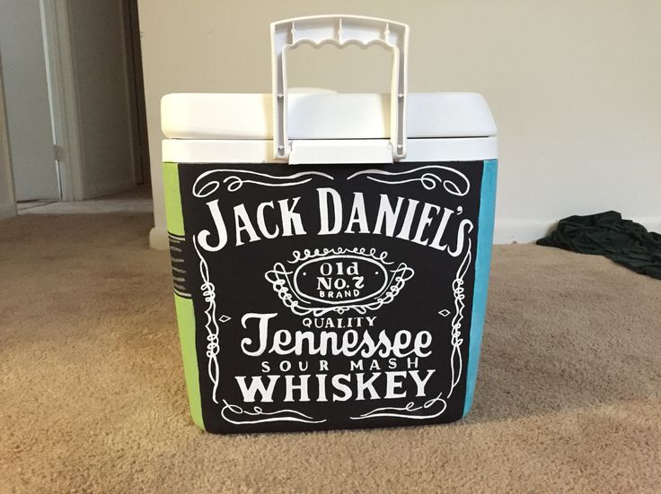 Jack Daniels painted fraternity cooler