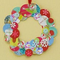 Kreatív gyűjteményem: Karácsonyi koszorúk papírból 1.