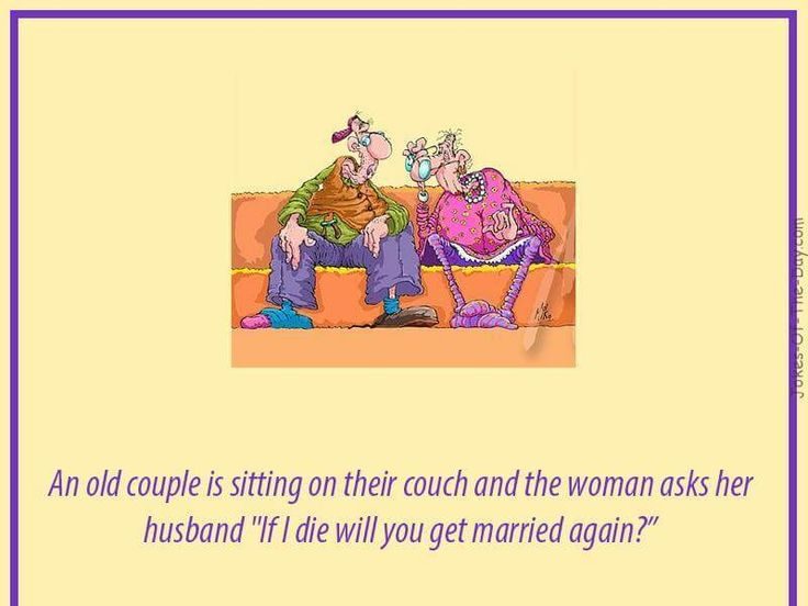 An old couple are sitting on a couch - Funny Joke, funny joke about cheating, funny joke about dieing, funny joke about marriage, funny old joke