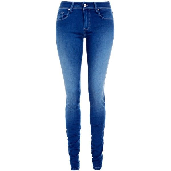 Salsa Jeans Colette Mid Rise Washed Jeans, Blue ($68) ❤ liked on Polyvore featuring jeans, pants, bottoms, calças, pantalones, skinny leg jeans, mid-rise jeans, slim cut jeans, skinny jeans and medium rise jeans