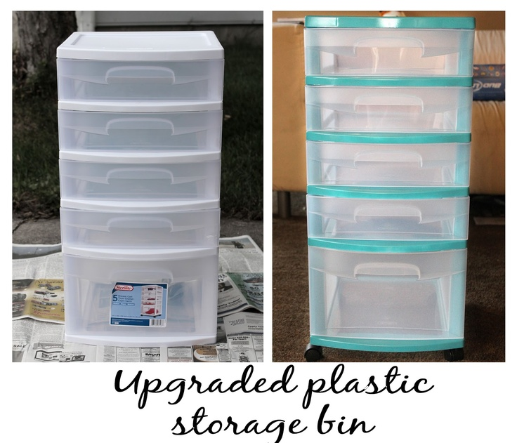 Spray Paint Those Boring Plastic Storage Bins!